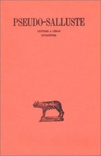 Lettres à César - Invectives (texte et traduction)