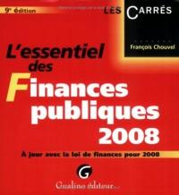 L'essentiel des Finances publiques 2008 : A jour de la loi de finances pour 2008