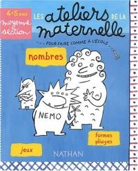 Nombres, Jeux, Formes pliages Maternelle Moyenne Section 4-5 ans