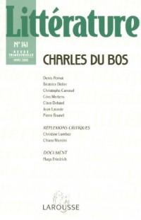 Littérature, N° 141 : Charles du Bos