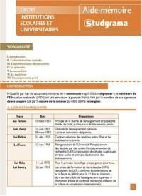Institutions scolaires et universitaire