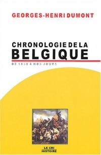 Chronologie de la Belgique de 1830 à nos jours