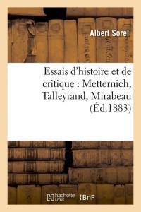 Essais d Histoire et de Critique  ed 1883
