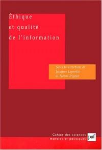 Ethique et qualité de l'information