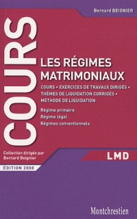 Droit des régimes matrimoniaux : Cours et travaux dirigés