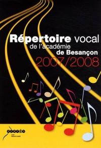 Répertoire vocal de l'académie de Besançon (2CD audio)