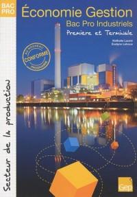 Economie Gestion 1e et Tle Bac Pro industriels