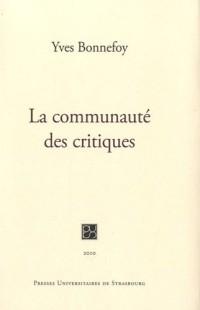 La communauté des critiques