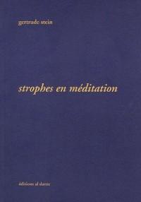 Strophes en méditation