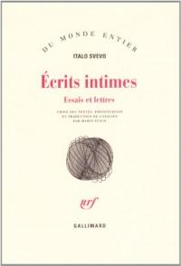 Ecrits intimes, essais et lettres