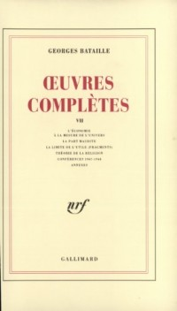 Oeuvres complètes, tome 7