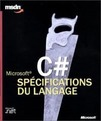 Microsoft c# specifications du langage - langages et programmation - livre de reference