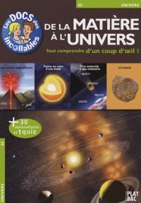 De la matière à l'univers