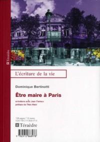 Etre maire à Paris