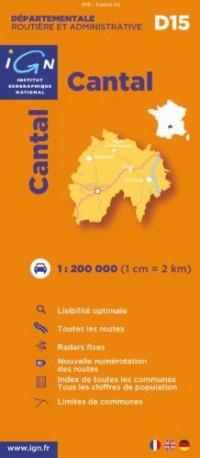 D15 Cantal 1/200.000