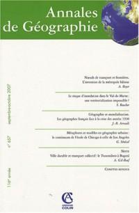 Annales de Géographie, N° 657, septembre-oc :