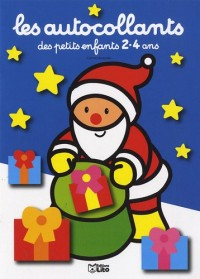 Les Autocollants des Petits Enfants 2-4 Ans : Pere Noël Bleu