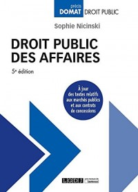 Droit public des affaires, 5ème Ed.