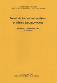 Systèmes électroniques : Brevet de Technicien Supérieur