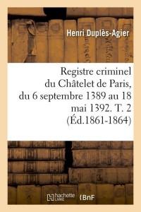Registre Criminel  T2  ed 1861 1864