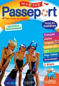 Passeport Toutes les matières - De la 6e à la 5e - Cahier de vacances