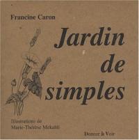 Jardin de simples : Poèmes en prose