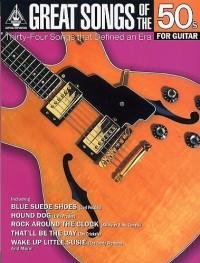 Great Songs Of The 50s For Guitar. Partitions pour Tablature Guitare, Ligne De Mélodie, Paroles et Accords(Symboles d'Accords)