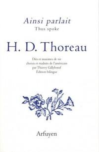 Ainsi parlait H. D. Thoreau