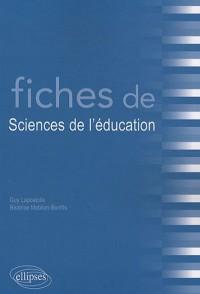 Fiches de sciences de l'éducation