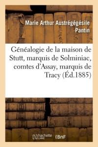 Généalogie de la Maison de Stutt  ed 1885