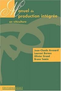 Manuel de production intégrée en viticulture