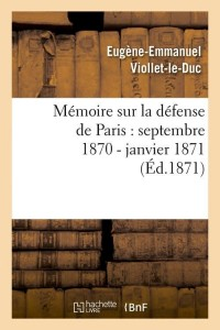 Mémoire Sur la Defense de Paris  ed 1871
