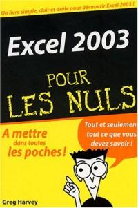 Excel 2003 pour les nuls