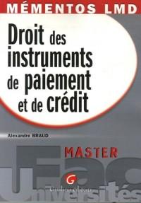Droit des instruments de paiement et de crédit