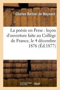 La Poesie en Perse  ed 1877