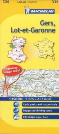 Michelin Map France: Gers, Lot-et-garonne 336