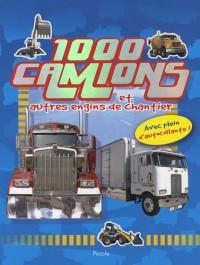 1000 camions et autres engins de chantier : Avec plein d'autocollants !