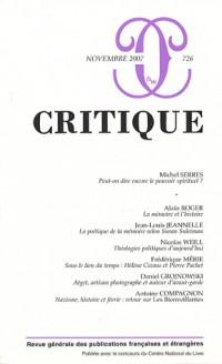Critique, N° 726, novembre 200 :