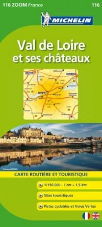 Val de Loire et ses châteaux : Carte Routière et Touristique, 1/150 000