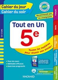 Cahier du jour/Cahier du soir tout en un 5e - Nouveau programme 2016