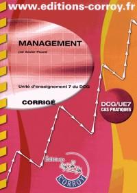 Management Corrige - Ue 7 du Dcg