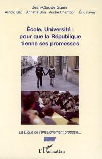 Ecole, université: pour que la République tienne ses promesses