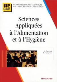 Sciences appliquées à l'alimentation et à l'hygiène