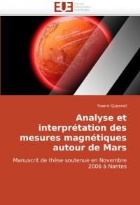 Analyse Et Interprtation Des Mesures Magntiques Autour de Mars