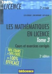 Les mathématiques en licence 2e année : Tome 3