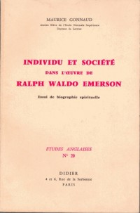 Individu et societe dans l'oeuvre de Ralh Waldo Emerson
