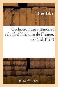Collection Hist de France  63  ed 1828