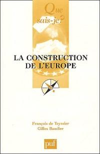 La construction de l'europe (2e édition)