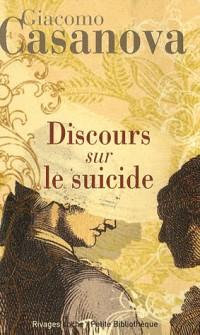 Discours sur le Suicide