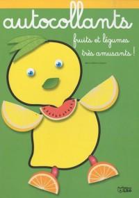 Fruits et Légumes très amusants : Petits Citrons - Album d'autocollants - Dès 3 ans